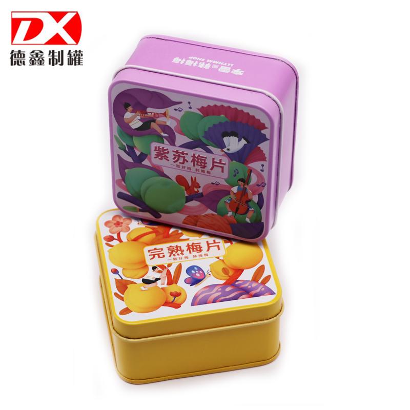梅片食品铁盒