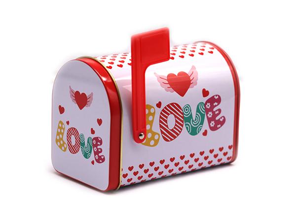 圣诞邮箱铁盒