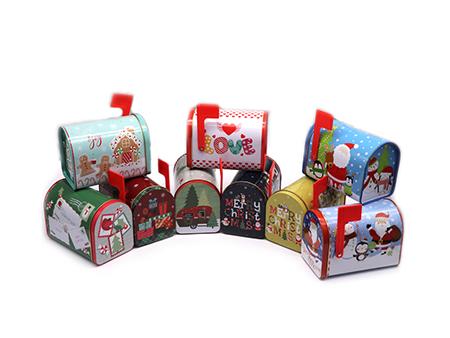 圣诞邮箱铁盒展示图