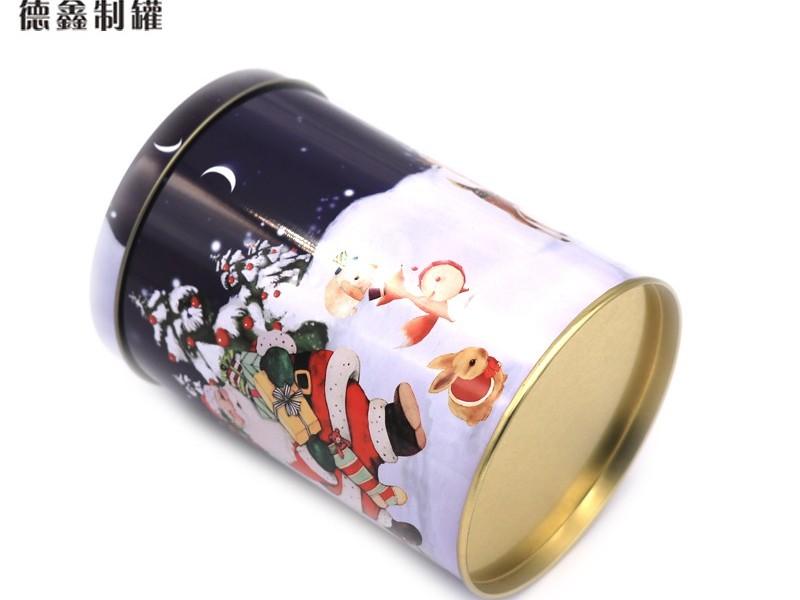 φ90*128MM圣诞礼品铁盒
