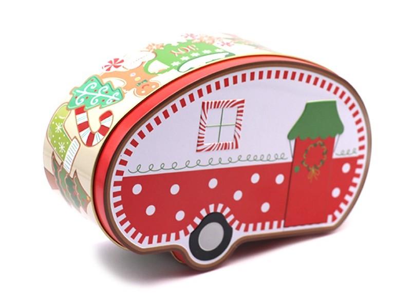 2件套圣诞露营车马口铁盒