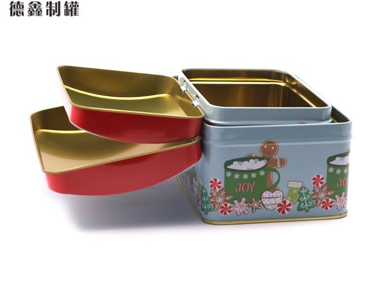 2件套圣诞拱盖长方罐