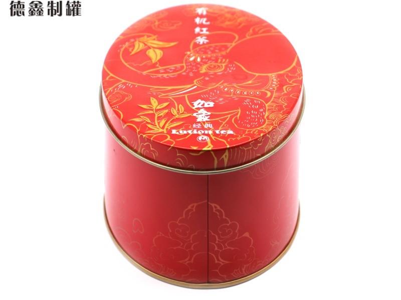 140*94*75MM云南有机茶铁盒包装