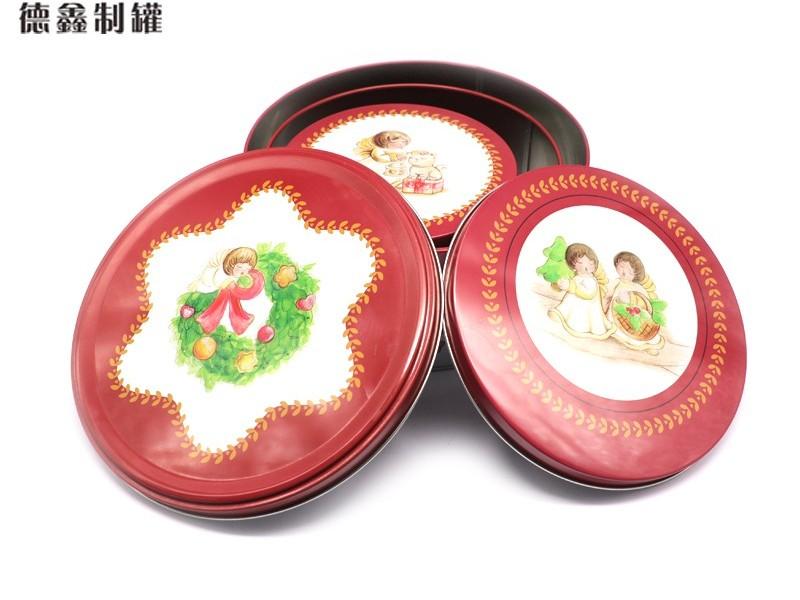 φ200*87圆形食品礼品铁盒